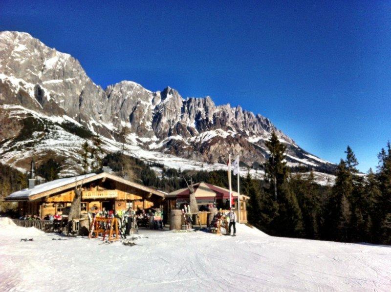 Ski huts in the Hochkonig ski region, Austria