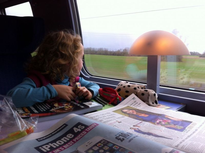 Fun times on the train in Europe with kids