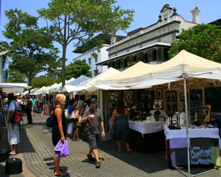 Markets in Brisbane's South Bank Parklands, Australia