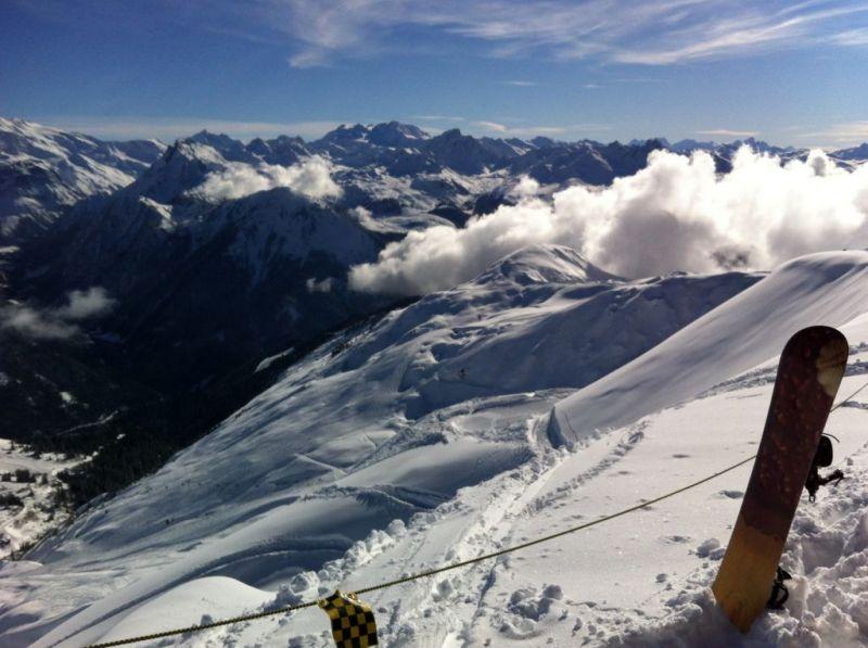 Skiing in La Plagne, France