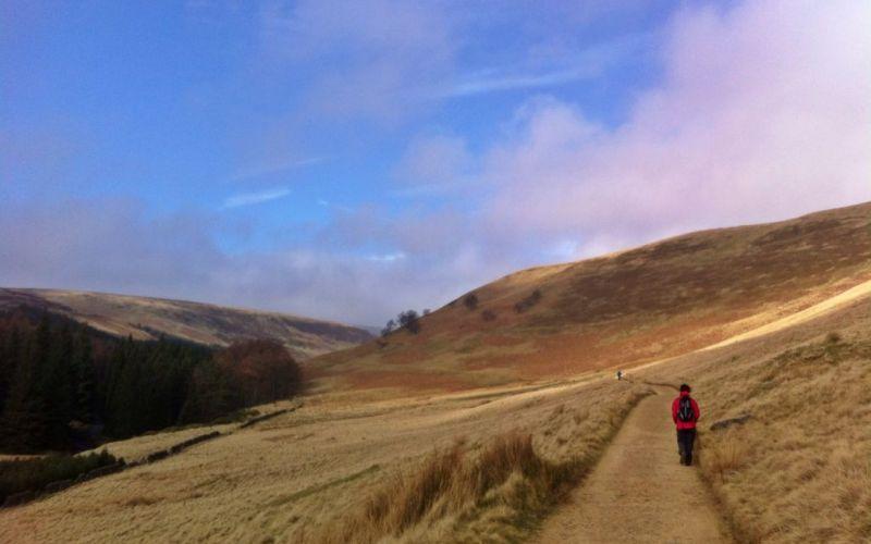 Walking around the Upper Derwent Valley reservoir, Derbyshire