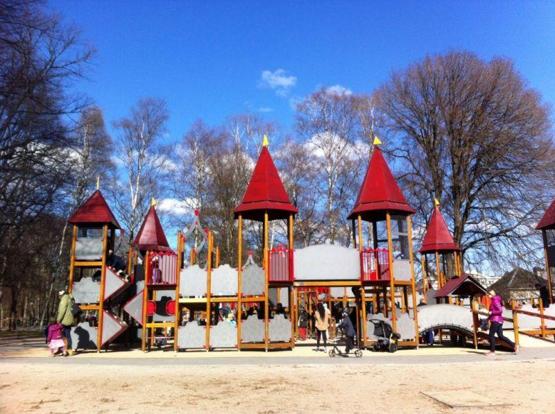 Playground in the Vigeland Sculpture Park, Oslo Norway