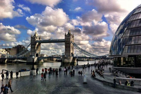 Tower Bridge and City Hall, London