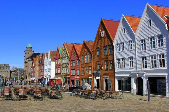 Bryggen in the sun, Bergen Norway