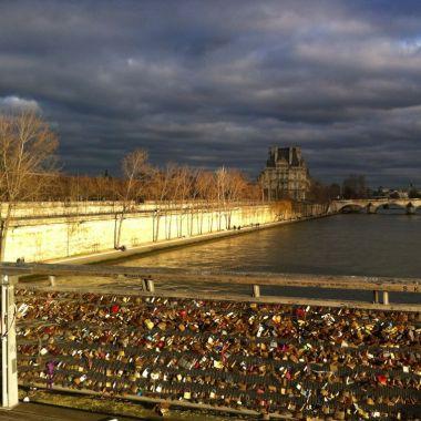 Paris lovelocks Pont des Arts-001