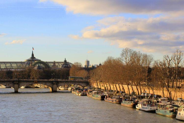 Paris view from Pont des Arts