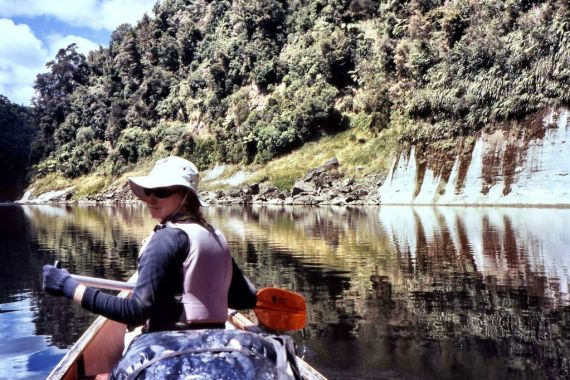 Natasha von Geldern on the Whanganui River in New Zealand
