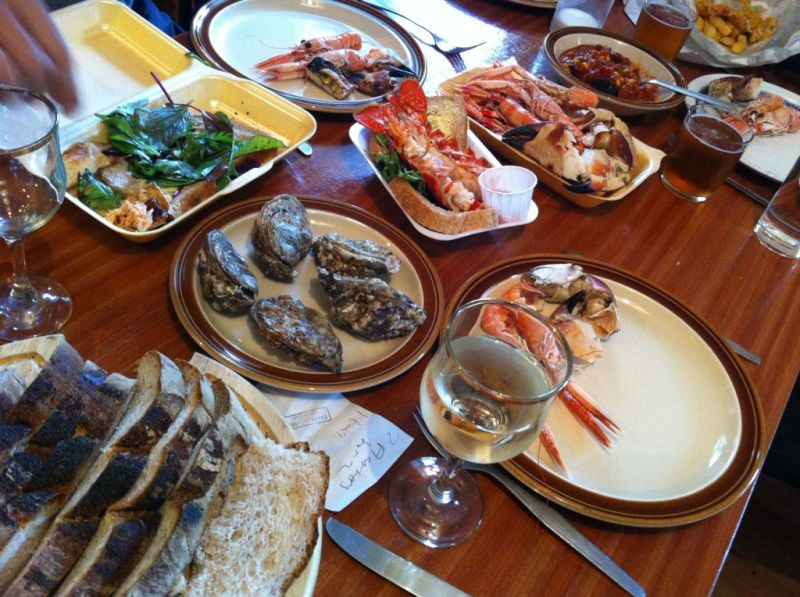 Seafood feast on Skye, Scotland
