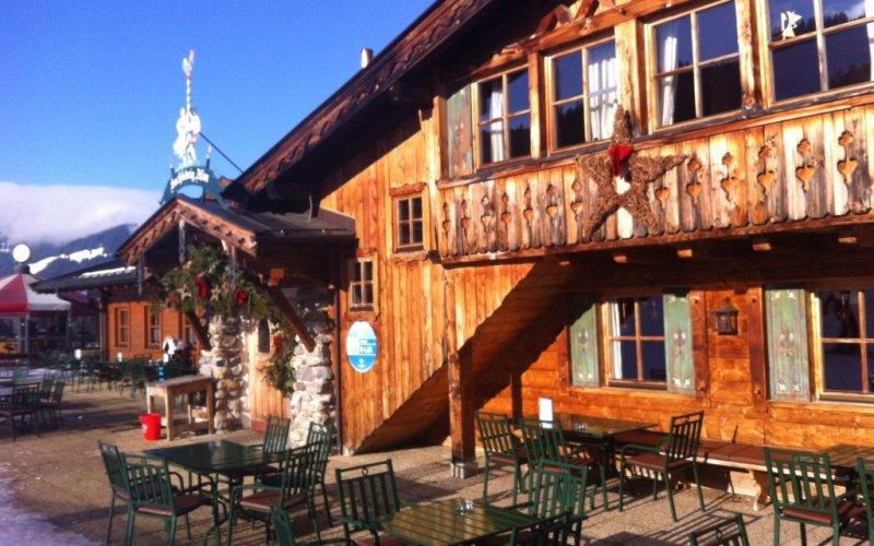 Austrian ski hut restaurant