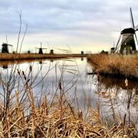 Netherlands: Land, wind and water at Kinderdijk