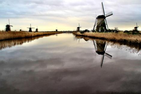 Kinderdijk reflections, Netherlands