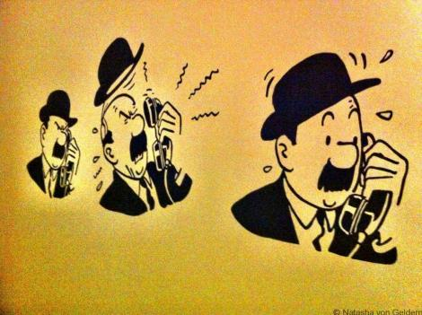 Thompson at the Musee Herge in Belgium