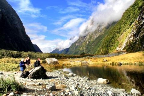 Resting, Milford Track, New Zealand, Photo by Natasha von Geldern