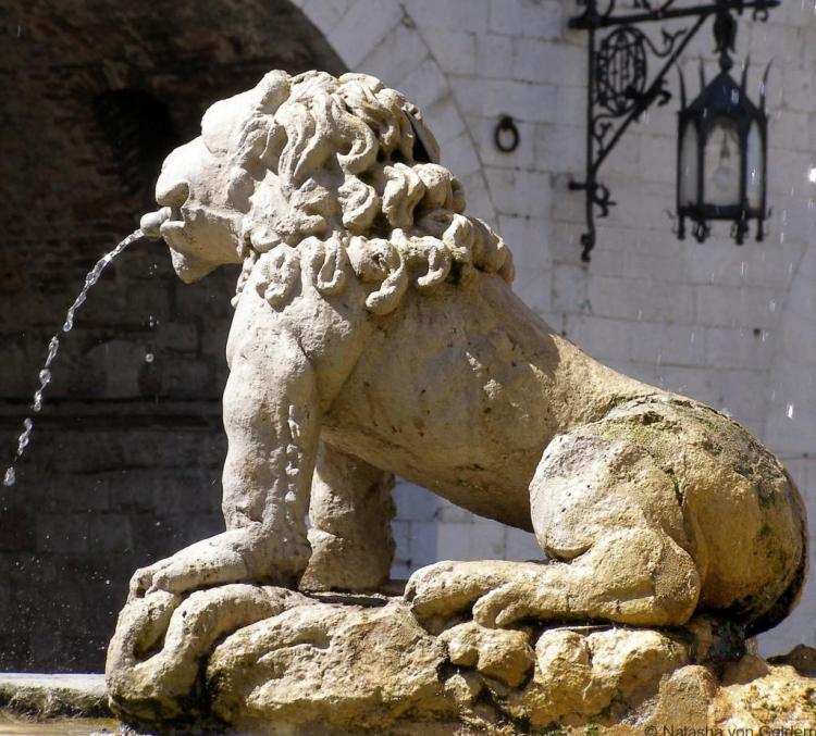 Assisi lion fountains, Umbria