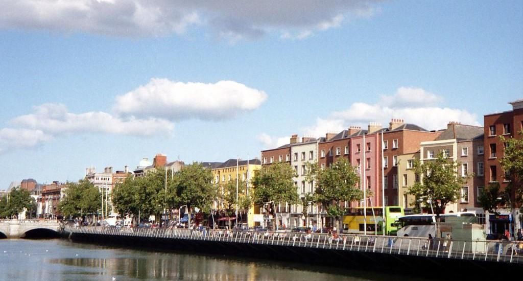 Banks of the Liffey in Dublin