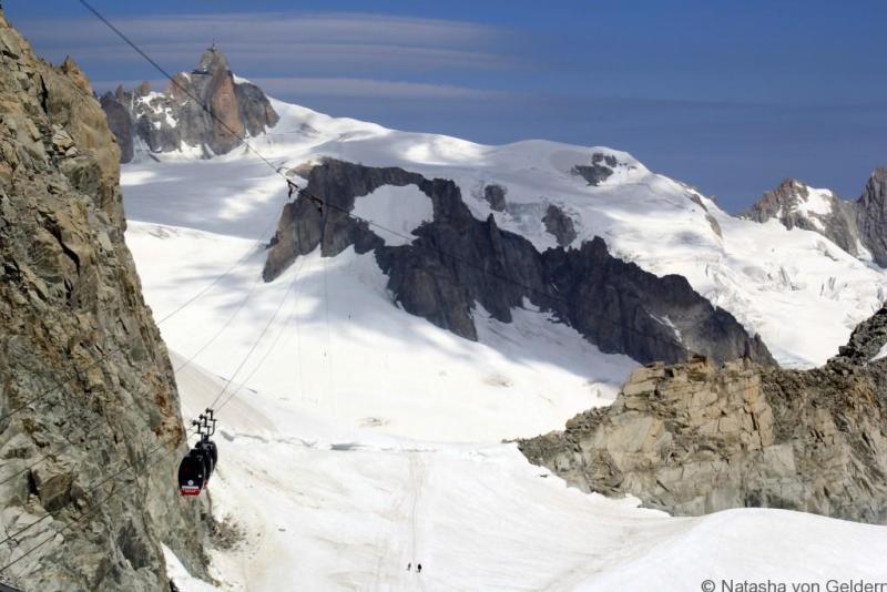 Skyway Monte Bianco view to Aiguilles du Midi