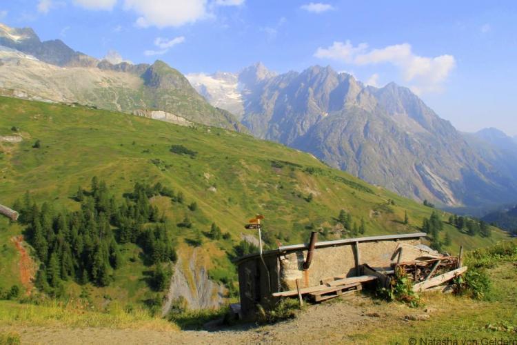 Swiss alpage, hiking the Tour du Mt Blanc