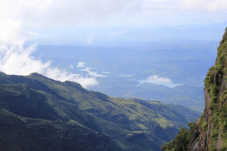 View from World's End Walk Horton Plains Sri Lanka