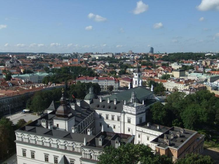 Vilnius from Gediminas Castle, Lithuania Photo by Peter Collins under the creative commons license