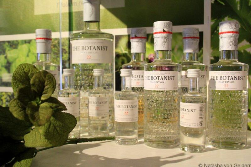 The Botanist gin at Bruichladdich Islay Scotland
