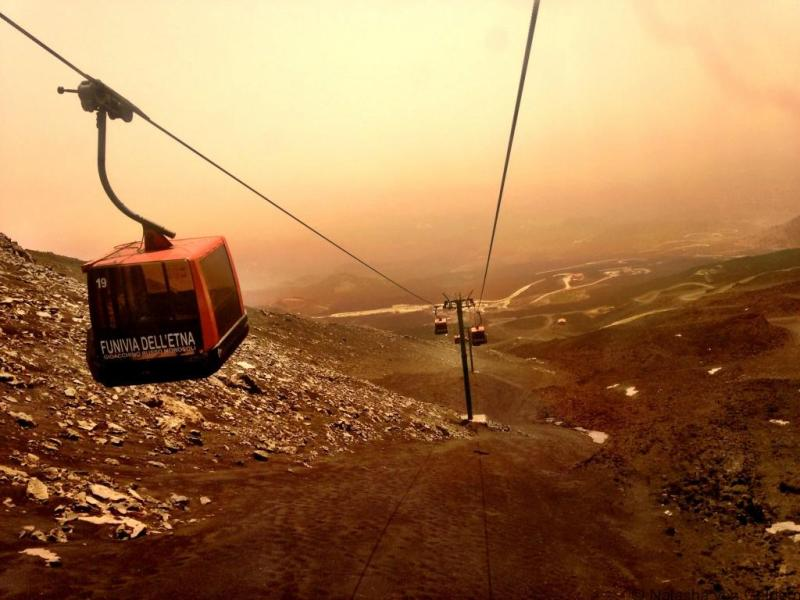 Mt Etna cable car Sicily