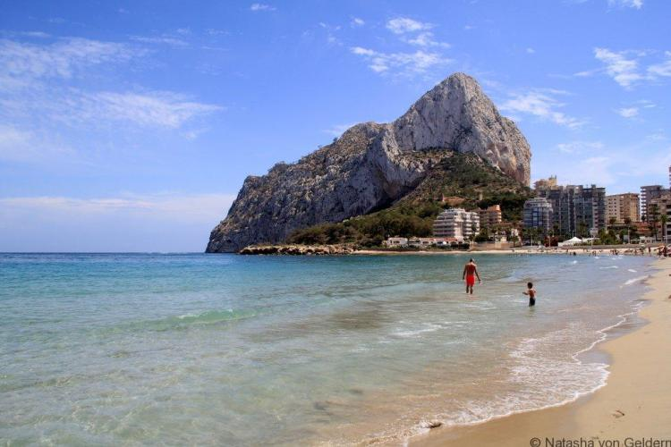 Calpe beach and Penon d'Ifach, Costa Blanca