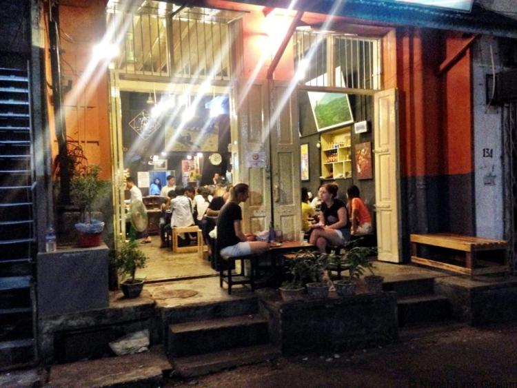 Anya Ahta restaurant night Yangon Myanmar