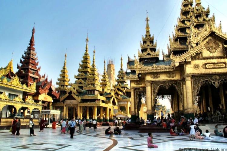 Shwedagon Pagoda complex Yangon Myanmar