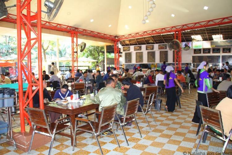 A Mandalay tea shop foodies tour Myanmar