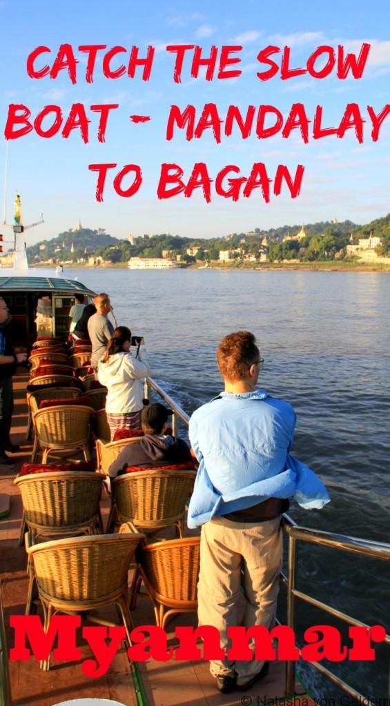 Slow boat Mandalay to Bagan Myanmar