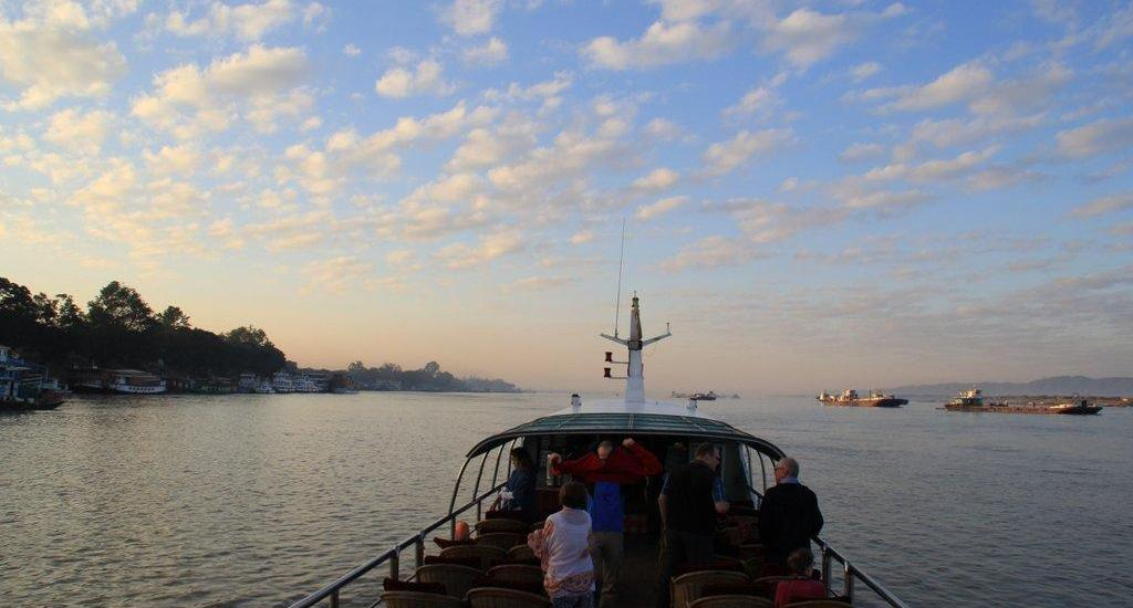 The boat from Mandalay to Bagan in Myanmar