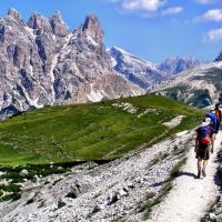 Following the Iron Way in the Dolomite Mountains