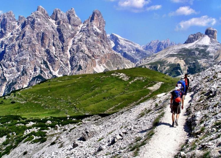 Hiking and climbing in the Dolomites
