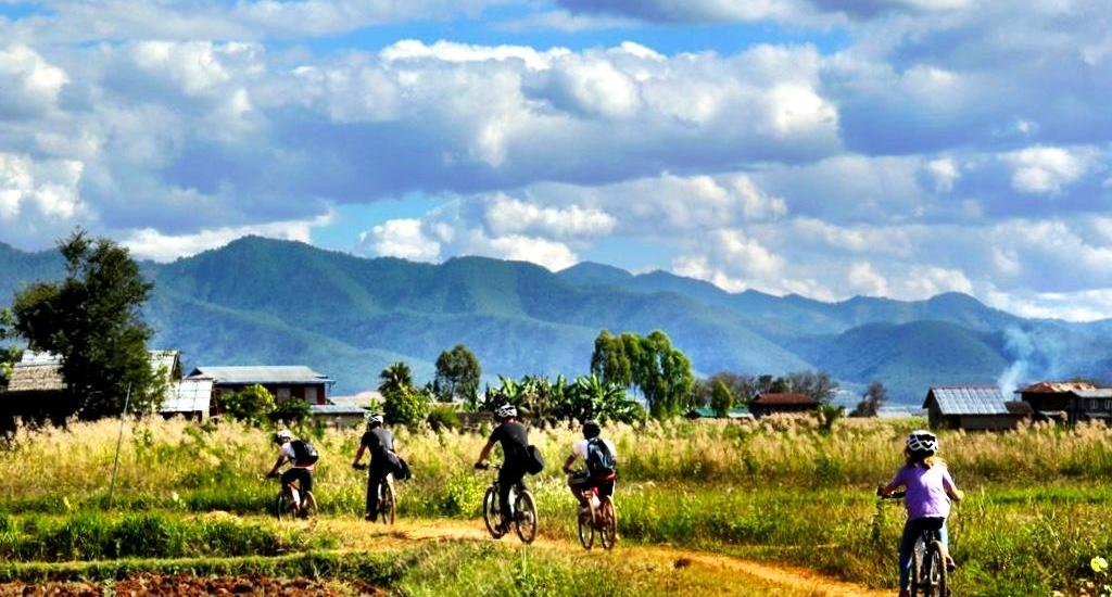 Inle Lake bike tour with Grasshopper Adventures Myanmar
