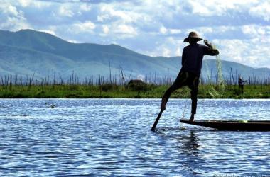 Inle Lake fisherman Myanmar