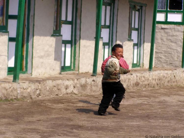 Sherpa child in Kunde Village, Khumbu Nepal