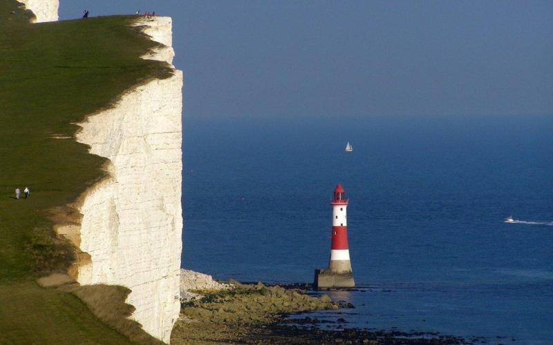 Seven Sisters Lighthouse Eastbourne England