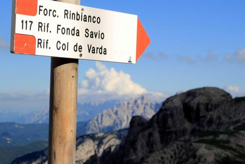Hiking in the Dolomites Italy Way Marking