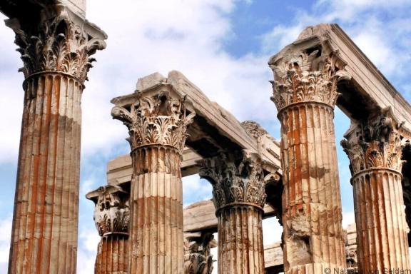 Temple of Zeus columns Athens Greece