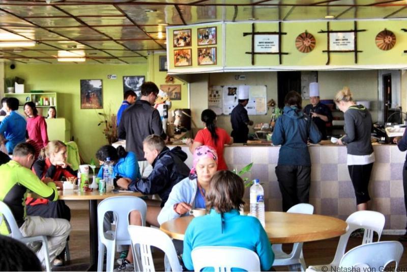 Laban Rata dining hall Mt Kinabalu hike Malaysia