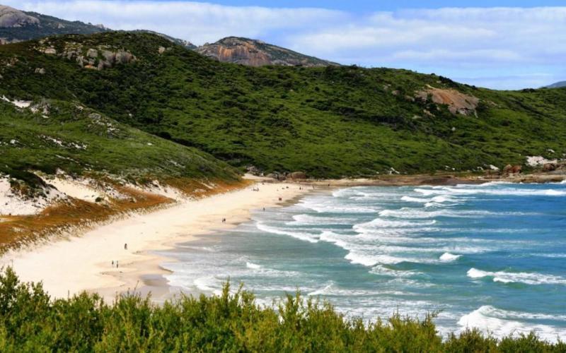 Views of Squeaky Beach Wilsons Promontory Victoria Australia