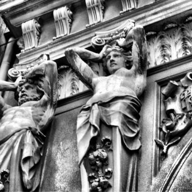 Bucharest architecture caryatids Romania