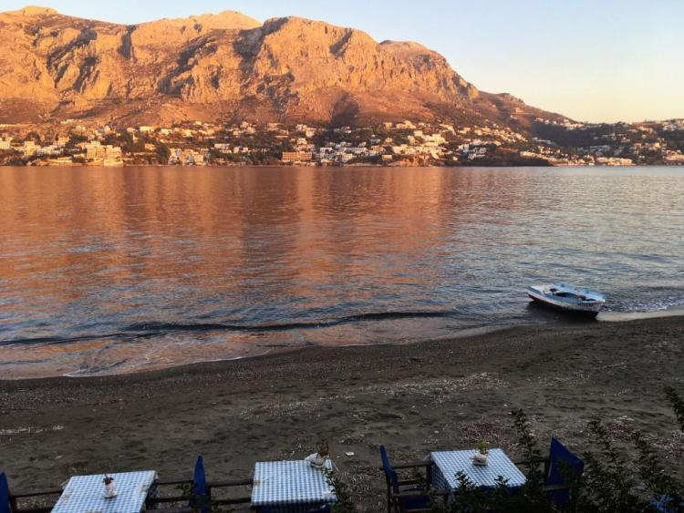 View from Telendos to Massouri Kalymnos Greece