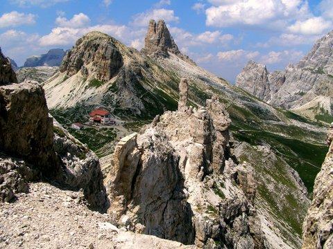 High in the Dolomite Mountains of Italy - via ferrata routes
