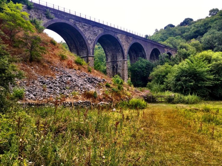 Monsal Viaduct Derbyshire UK