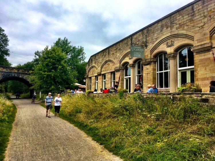 Hassop Station Cafe on the Monsal Trail in Derbyshire England