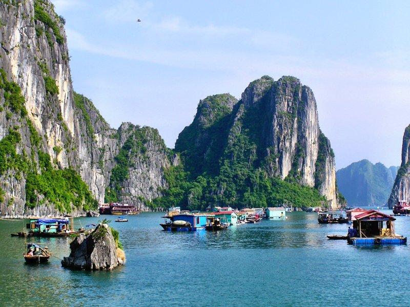 Ha Long Bay floating village Vietnam
