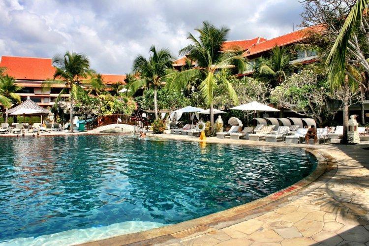 Bali beach resort pool area