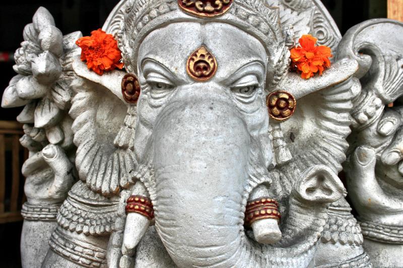 Ganesh statue Ubud temple Bali