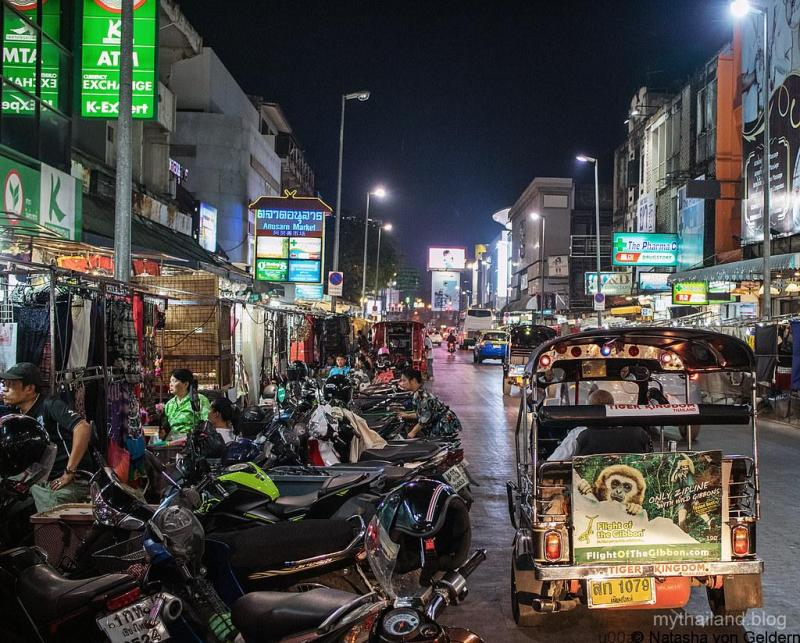 Chiang Mai night market Thailand